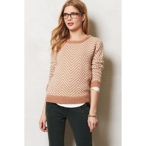 Anthropologie Gianni Chevron Knit Pullover Sweater